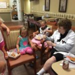 Even the little helpers enjoyed some burgers & fries!